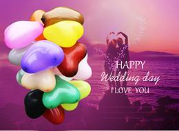 Compra Online Globos del corazón-Globo 100pcs forma linda del corazón Globos inflables del látex que casan la decoración Partido feliz del compromiso Ballons Inflatable Latex Balls