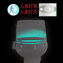 Wholesale manufacturer promotions Newly LED Motion sensor toilet night light Colors Changing Toilet Bathroom human body auto sensing night light