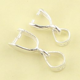 925 silver buttons Clip Pendant buckle Melon seeds Necklace button Buckle accessories DIY Solid 925 Sterling Silver Bail Clasp Hook