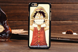 Wholesale Hot Sales Famous Anime ONE PIECE Luffy Cute Carton Monkey D Luffy Shell For iPhone S inch Cover Case DHL MOQ
