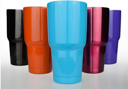 Wholesale NEW Bilayer Stainless Steel Insulation Cup OZ YETI Cups Cars Beer Mug Large Capacity Mug Tumblerful