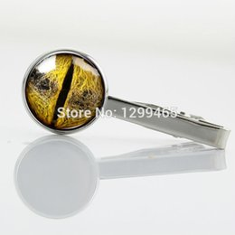 Wholesale Dragon Eyes Gifts Tie pin steam punk eyes Tie Clips Unique Design Promotion Snake Eye Ball Silver plated tie tacks T