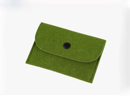 12pcs lot rectangle felt Coin Purses little zero wallet mini coin pocket plain wallte drop shipping Can be customized adding logo