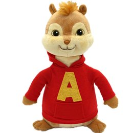 16CM Movie Alvin and The Chipmunks Alvin Soft Plush Toys Baby Christmas Gift free shipping