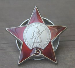 Wholesale 1 rare Russia Red Star military decoration for bravery of the Soviet Union Badge Russian Emblem Medal of army badge