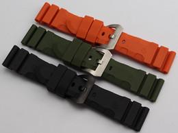 Acheter en ligne Regarder bracelet en caoutchouc noir-Montres Noir Orange Bracelet de haute qualité en caoutchouc de silicone Accessoires Pour remplacement New STRAP avec le sport regarder 24 26mmfreeshipping