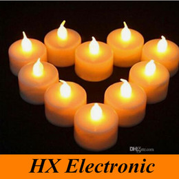 Wholesale Colorfull lights Battery operated Flicker Flameless LED Tealight Tea Candles Light for Wedding Birthday Party Festival decorating