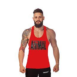 Wholesale Mens Tank Tops Sleeveless Shirt Bodybuilding Equipment Gym Singlets Fitness Men s Golds Gym Stringer Tank Top Sports Clothes