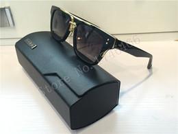 2017 marcos libres MACH THREE libera el envío la lente del gradiente del marrón del marco del oro del cuadrado del diseñador DITA MACH tres mujeres de las gafas de sol barato marcos libres