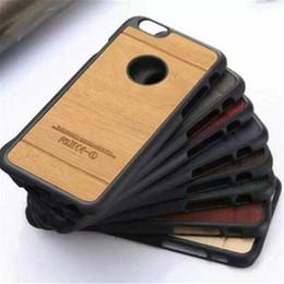 Promotion trous bois Boîtier en bois en cuir de modèle PU couvre les étuis rigides pour PC pour iphone 5 5s 6 6s 7 plus APLLE LOGO CUT trou rond