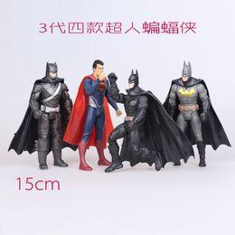 Wholesale 4PCS Superhero Figurine Batman Superman Captain PVC Action Figure Toys Joint Moveable Collectible Toy cm