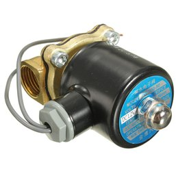 Wholesale 12V quot Electric Brass Solenoid Water Air Valve Diesel Gas Train Horn Solid Coil AUP_40W