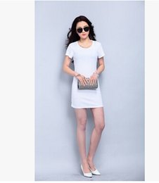 FREE SIZE SUMMER WOMEN LONG DRESSES SHORT SLEEVE CASUAL CREW NECK DRESSES Render hip BODYCON DRESSES