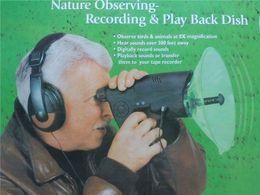 Wholesale SPY Orbiter Eletronic feet Bird Watcher Listening Device earphone With Headphone