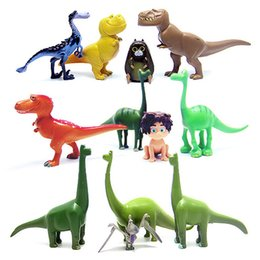 12pcs lot Arlo Spot The Good Dinosaur Miniatures Anime PVC Action Figures Dinosaurs Movie Figurines Set Kids Toys for Boys Girls