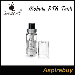 Wholesale Smoant Mobula RTA Rebuildable Atomizer ML Top Filling Velocity RBA with mm Post Hole mm Big Built Deck Huge Vapor Pure Taste Original