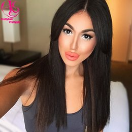 Beautyful Silk Straight Natural Black wig Free Shipping New Long Synthetic Lace Front Wig Glueless Heat Resistant Wigs with middle part