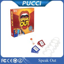 Wholesale 2016 Speak Out Game party game cards for party The Ridiculous Mouthpiece Challenge Christmas gift newest best selling toy