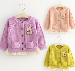 baby girl cardigan sweater Children's clothing new Fashion cardigan knit sweater Kids cotton long sleeve sweater