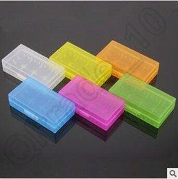 Promotion porter coloré 1000pcs CCA4020 De haute qualité portative boîte de rangement 18650 Boîtier de batterie Boîte acrylique Boîte de plastique plastique de sécurité 16340 17500 Batterie