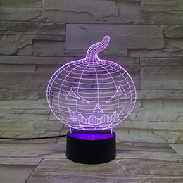Wholesale Halloween Pumpkin D Control Led Night Light Alternative Color LED Desk Lamp Table Lamp Christmas gift
