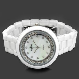 Wholesale 2016 new best price superior in quality3713fashion hot selling silver dial white ceramic strap fashion female table