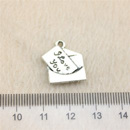 20Pcs 18*16mm antique Silver ToneLove letter Charms Zinc Alloy DIY Handmade Jewelry Pendants Wholesale