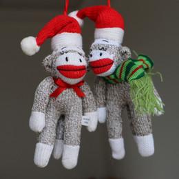 Christmas Gifts Handmade Plush Doll Monkey Cute Big Mouth Monkey Christmas Tree Decorative Toy