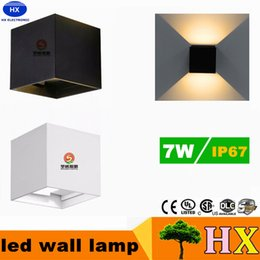 Wholesale 7W Wall lamps IP65 cube adjustable surface mounted outdoor led lighting sconces led outdoor wall light up down led cabinet lighting