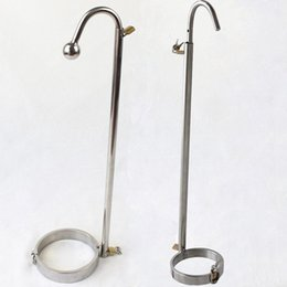 stainless steel round flat head choose Forced Straight Hook restraint bondage toys adult sex collar fetish erotic Slave Sex toys for coupl