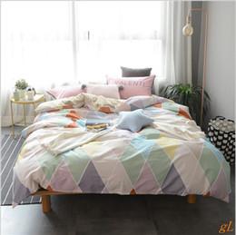 Pure cotton Nordic style printed sheet AB sheet set