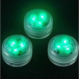 Waterproof Design Under Water LED Light CR2032 Battery Operated 3LED Submersible Mini Tea Light 10pcs  lot with one piece Remote Controller