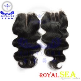 6A Unprocessed Human Hair Lace Closure Brazilian Hair Body Wave Curly Straight 3.5x4 Top Closure Bleached Knots Free Shipping