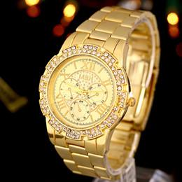 Luxury Brand Watches Men Quartz Watch Diamond Gold Wrist Watch Clock Fashion Dress Watches For Men