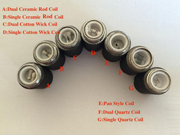 E Cig Skillet Coil Head Replacement Ego Atomizer Dual Quartz Ceramic Single Dual Ceramic Coil Cotton Wick For Replacement Skillet Tank