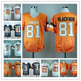 Wholesale Oklahoma State Cowboys Brandon Weeden Black Pro Combat College Football Jersey Justin Blackmon Barry Sanders Throwback Jerseys