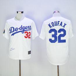 Wholesale Los Angeles Dodgers baseball jersey Sandy Koufax Throwback baseball jerseys Flexbase Grey White Blue Majestic Alternate Cool Base