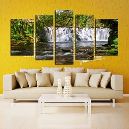 Wholesale LK586 Panel Unframed Panel The Moving Waterfall Large HD Home Decorative Picture Wall Art Print Modern Painting On Canvas For Living Roo