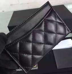Wholesale 5A Top Quatliy Famous Brand Card Holder Caviar Leather or Lambskin Diamond Lattice Designer Purse Matching Le Boy Bag CC338