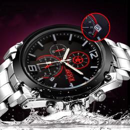 Luxury Dial Fashion Waterproof Steel Man Business Watches Three Six Pin Dress Watch for Man Sport Watch Mountain Running Watch