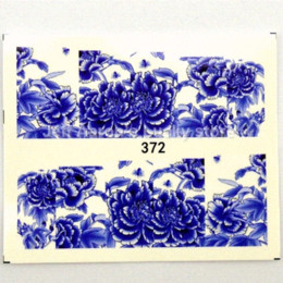 12pcs water transfer nail stickers decals for nail art tips decorations tools Beauty flower design sticker kid