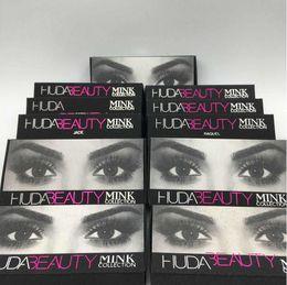 Wholesale HOT Huda Beauty mink collection False Eyelashes Real hair Handmade Fake Eye Lashes Professional Makeup Tip Bigeye Long False Eye Lashes