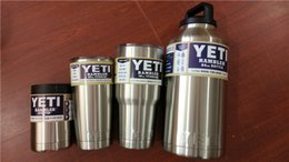 Wholesale 2016 Hot Item Stainless Steel Yeti Brand Cups Cooler YETi Rambler Tumbler Cup Vehicle Beer Mug Double Wall Bilayer Vacuum Insulated