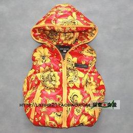 Wholesale-Winter down jacket clothes Children's thick white duck down vest