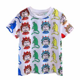 Cutestyles 2016 New Style Funny Cartoon T-shirt for Kids Cute Animal Pattern Print Boys T-shirt Fashion Boys Tops BT90315-9L