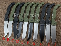 Wholesale 10 TYPES listing Cold Steel UXTGH VOYAGER XL CTS XHP Tanto knife HUNTING Voyager series Survivor Custom Edition knife tools