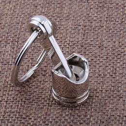 Wholesale 2016 new Fashion Hot Automotive Parts Piston Model Alloy Key Chain Fashion Silver Color Accessories key