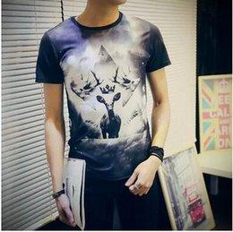 Promotion shirt de douille d'impression des animaux gros T-shirt à manches courtes gothique punk T-shirt à manches courtes gothique de T-shirt