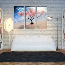 Wholesale LK381 Panel Abstract Cherry Tree On The Wind Wall Art High Giclle Wall Picture Print On Canvas For Home Bar Hub Kitchen Fashion Decorati