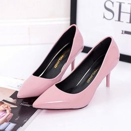 women shoes 2018 new high heels sexy Pointed high heels Sexy thin with light mouth fight color Large size 35-42 heels wedding shoes